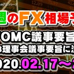 FOMC議事要旨とECB理事会議事要旨に注目!